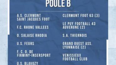 Poules de nos équipes U16 A, U18 A et Séniors A/B