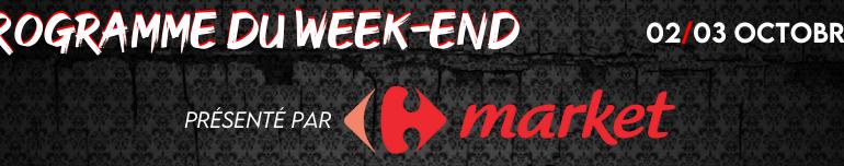 Programme du week-end (02/03 Octobre)