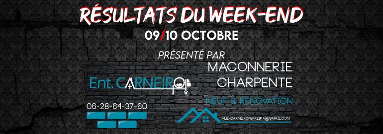 Résultats du week-end (09/10 Octobre)