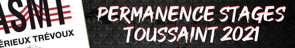 Permanence stages Toussaint 2021